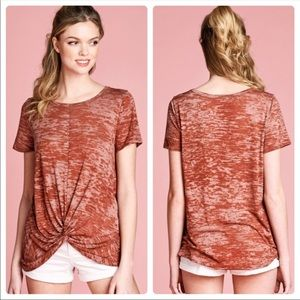 Rust colored burnout Tee